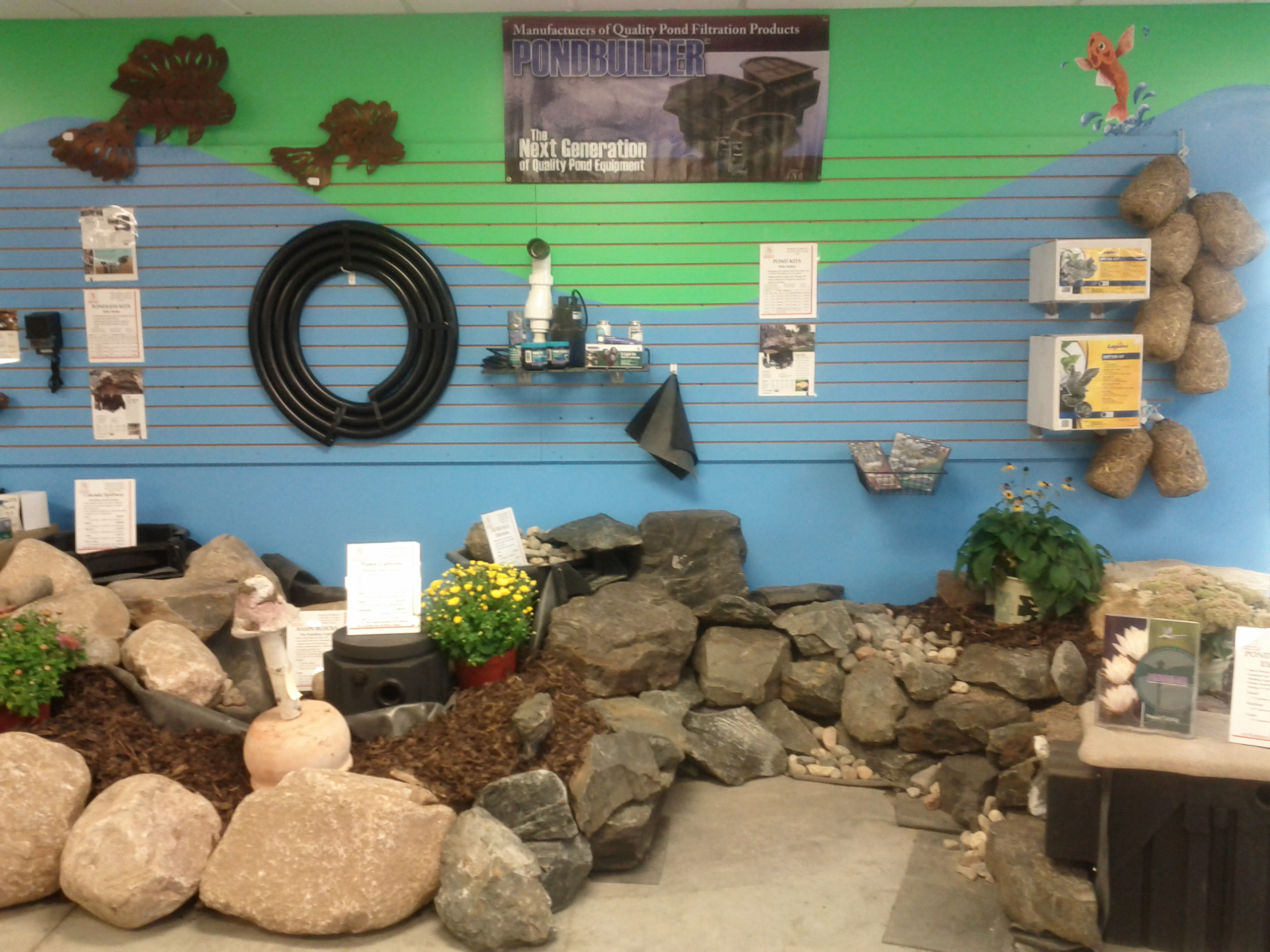PondBuilder display