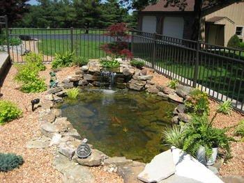 crystal falls garden pond