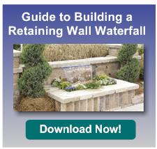 retaining wall waterfall