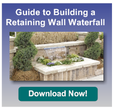 how to build a wall waterfall