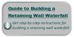 retaining wall waterfall instructions