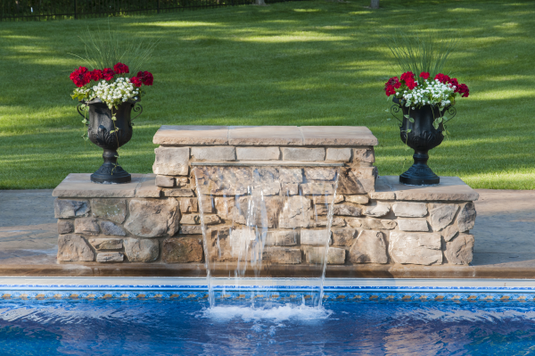 swimming pool waterfalls. Black Bedroom Furniture Sets. Home Design Ideas