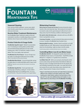 Fountain care, how to winterize a fountain