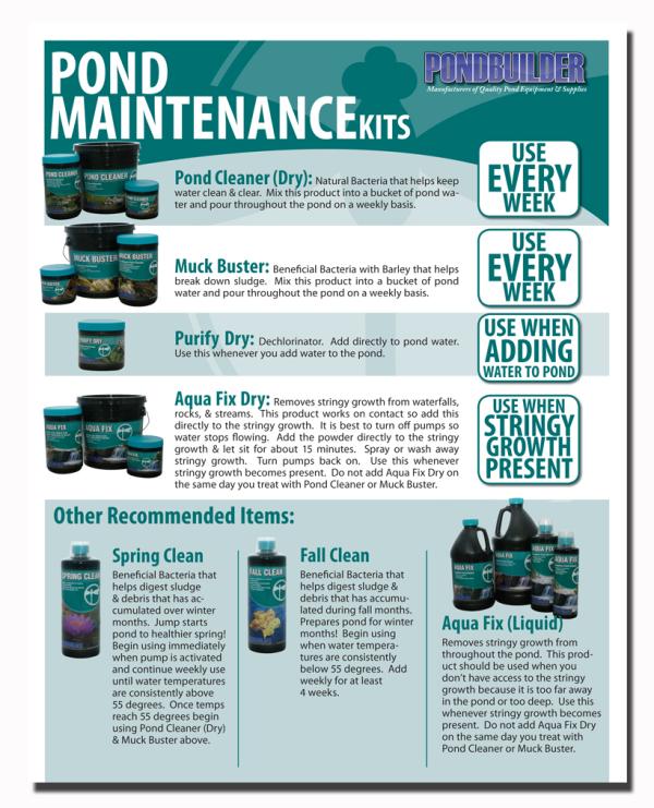 Pond Maintenance, Pond Tips, Pond Care, water garden maintenance, water treatments, PondBuilder
