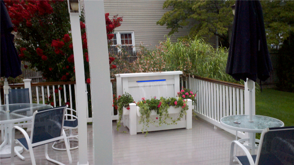 We have addressed weight, ease of the plug-n-play installation and versatility with the new Patio Waterfall completely made of PVC vinyl and Stainless Steel. Install in your landscape, on your patio or even a 2nd story deck!