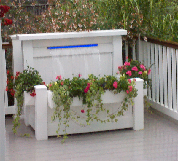 The Patio Waterfall is a Complete Waterfall Kit. Just add water and your plants to the 3 planter boxes that are included. Ready, Set, Enjoy!