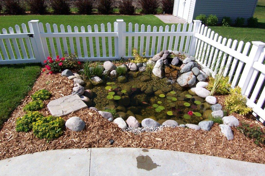 This pond was created with the Serenity Pond Kit