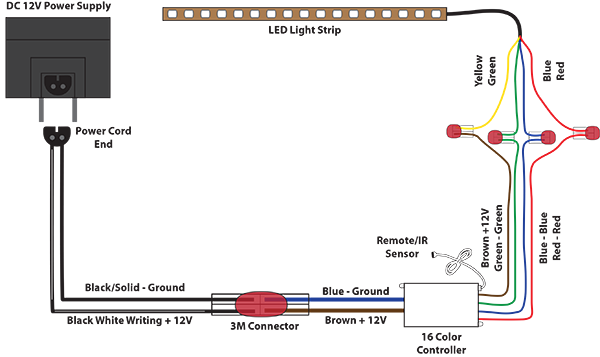 led lights diagram wiring