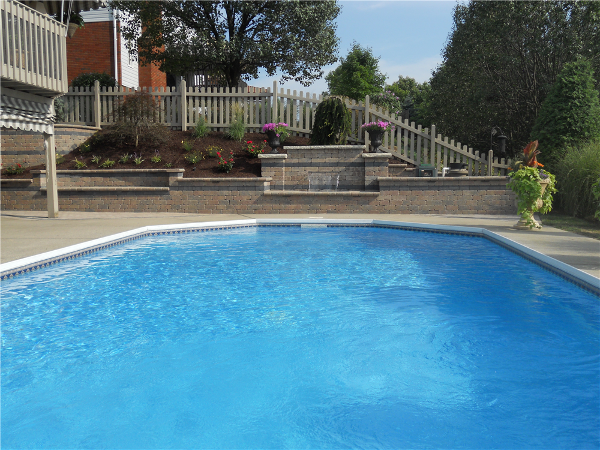 Include a focal element with your next design. The Formal Falls works great alongside a pool or falling into it.