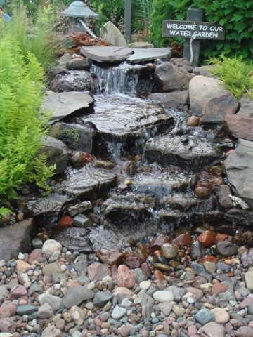 In a small 6x10 space the Small Elite Cascading Falls Kit can be constructed. Strong water flow helps you achieve a wide falls varying in width from 2-4ft wide.